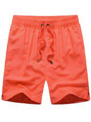 Mesh Lining Drawstring Hidden Pocket Board Shorts