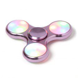 LED Light High Speed Hand Spinner Fidget Toy - PINK