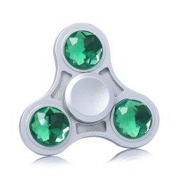 Fidget Toy Zinc Alloy Finger Spinner with Faux Crystal