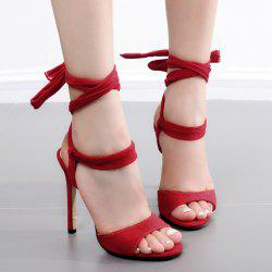 Stiletto Heel Lace Up Sandals