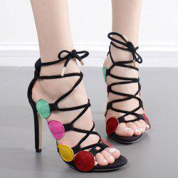 Tie Up Multicolor Sandals