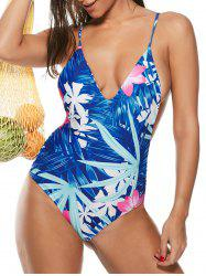 Strappy Floral One-Piece Swimsuit
