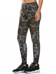 Snake Printed Work Out Leggings with Mesh