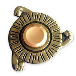 Three Fists Fidget Toy Round Hand Spinner Metal Finger Gyro - BRONZE-COLORED