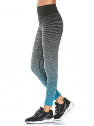 High Rise Ombre Printed Fitness Leggings