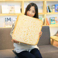 Sliced Toast Sofa Cushion Square Velboa Throw Pillow