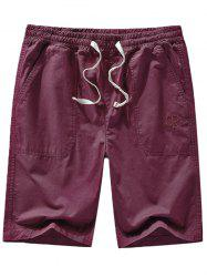 Letter Embroidery Design Casual Shorts