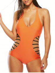 Halter Strappy Waist One-Piece Swimsuit