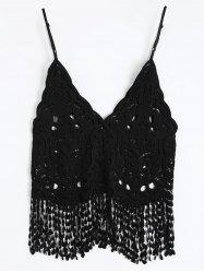 See Thru Fringe Cami Top