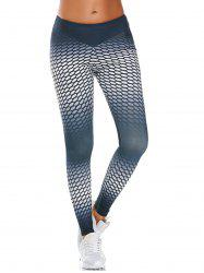 Ombre Polka Dot Printed  Funky Gym Leggings