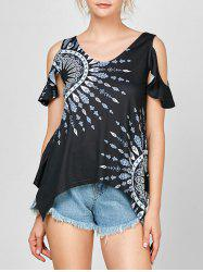 Cold Shoulder Tribal T-shirt