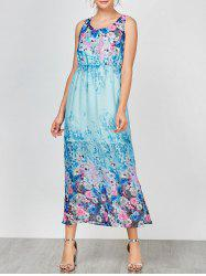 Sleeveless Floral Maxi Party Dress