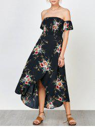 Floral Smocked Off The Shoulder Dress