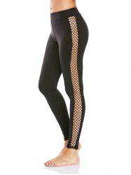 Fishnet Mesh Insert Workout Leggings