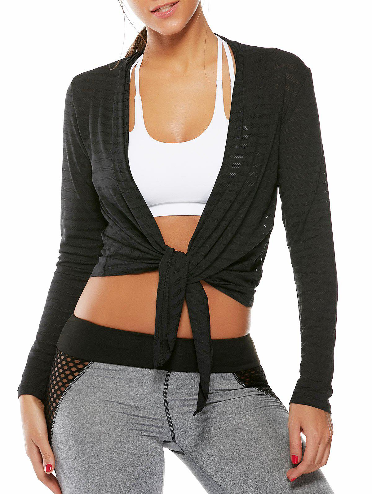 Trendy Collarless Quick Dry Front Wrap Top