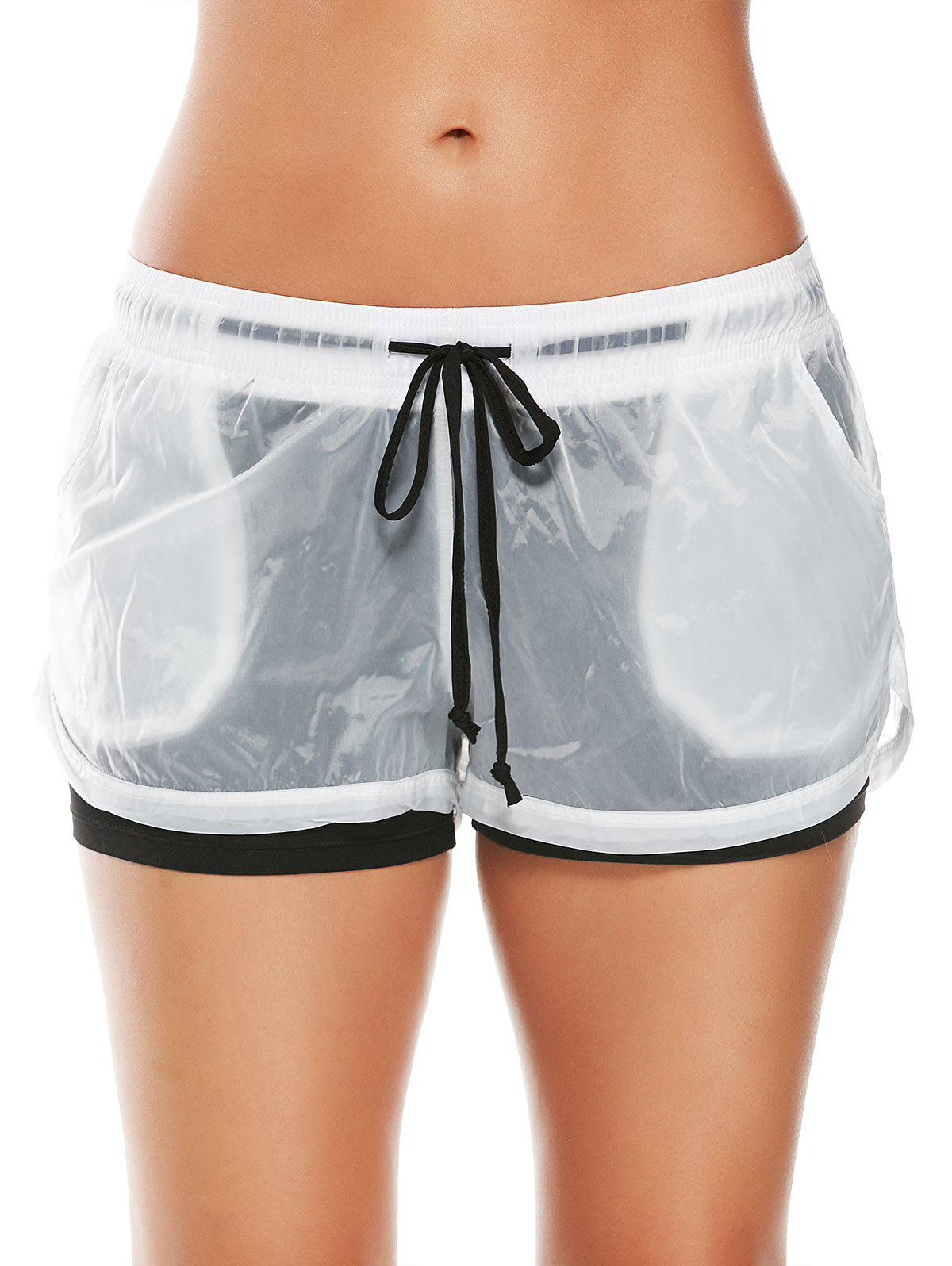 Fashion Layer Sports Drawstring Running Shorts