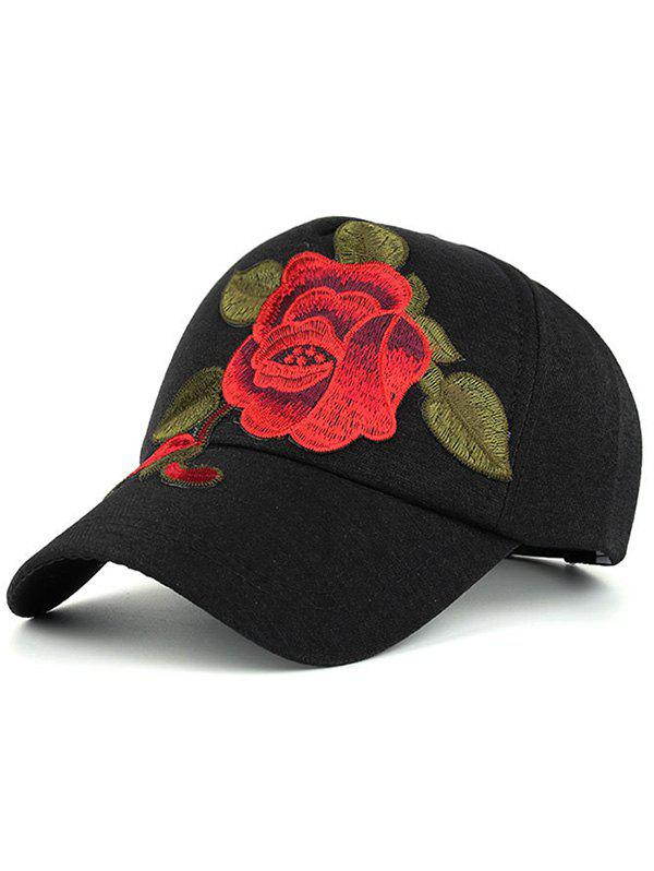 Affordable Showy Flower Embroidered Baseball Hat