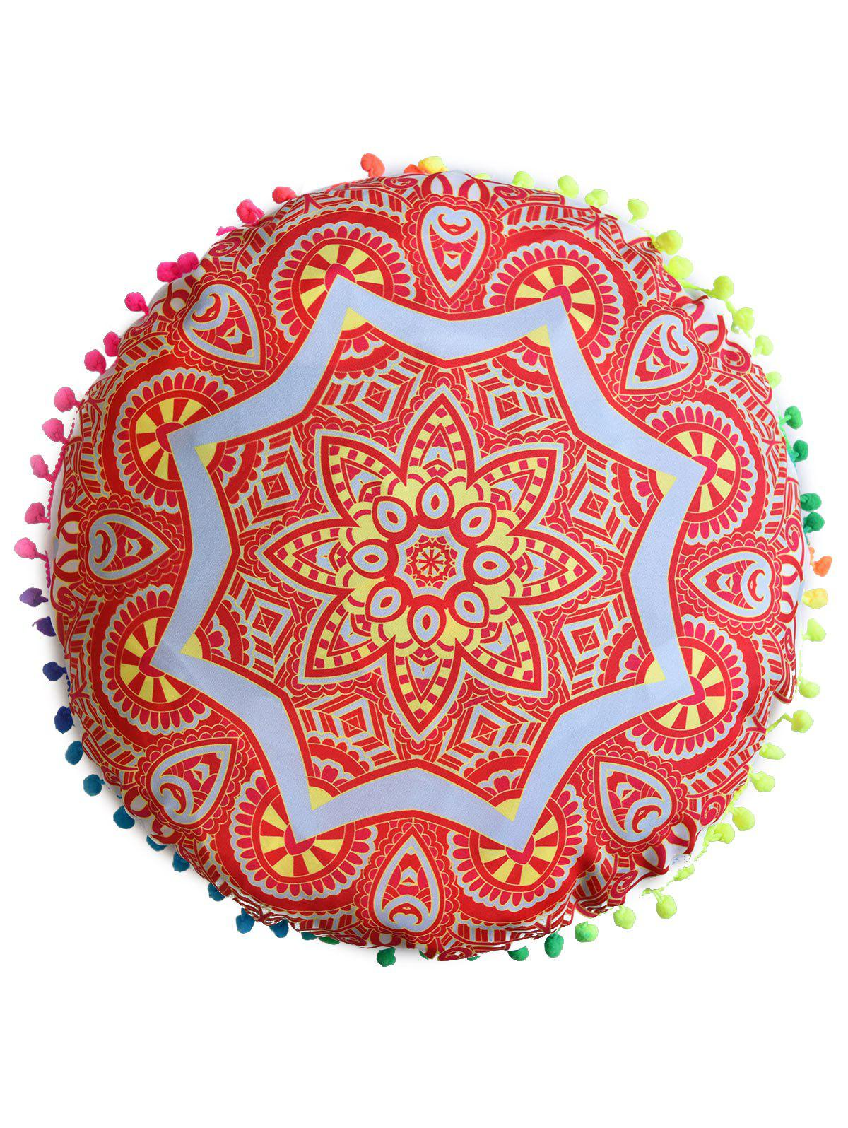 Indian Mandala Round Cushion Cover Pillow Case