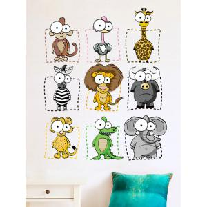 Animal Cartoon Wall Art Sticker For Kids - Colormix - 45*60cm
