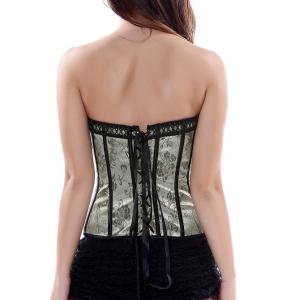 Strapless Floral Lace-Up Corset Top -