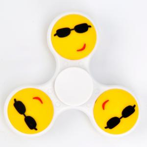Fiddle Toy Stress Reliver Emoticon EDC Fidget Spinner - WHITE