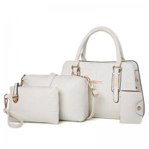 Geometric 4 Pieces Handbag Set - Off-white