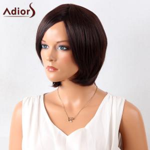 Adiors Short Straight Bob Side Bang Synthetic Wig -