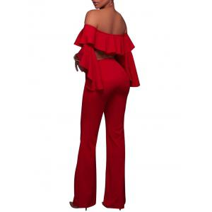 Flare Sleeve Off The Shoulder Palazzo Jumpsuit -