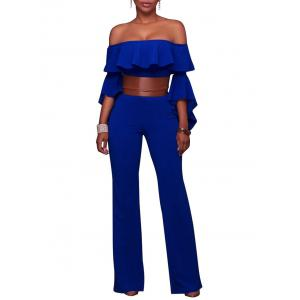 Flare Sleeve Off The Shoulder Palazzo Jumpsuit