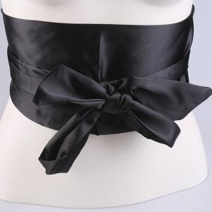 Wide Imitation Silk Ribbon Corset Belt