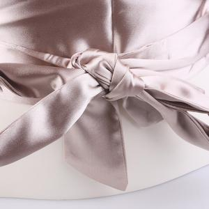 Wide Imitation Silk Ribbon Corset Belt - CHAMPAGNE