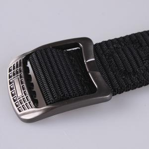 Rectangle Metal Buckle Canvas Belt -