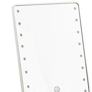 Adjustable Light 16 LEDs Touch Screen Desktop Makeup Mirror - WHITE