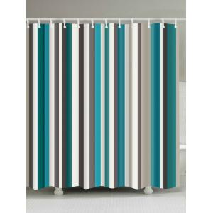 Waterproof Striped Fabric Bathroom Shower Curtain - Colormix - W71 Inch * L79 Inch