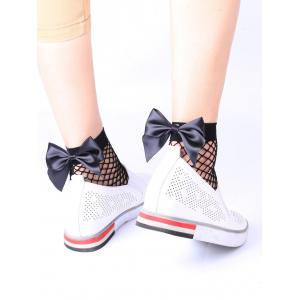 Fishnet Anklet Socks with Bowknot
