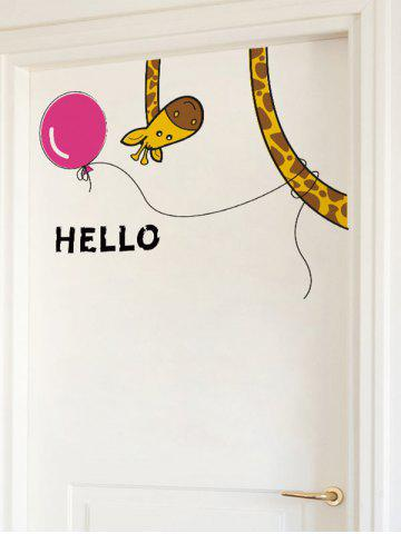 Discount Removable Cartoon Giraffe Bedroom Wall Sticker - 30*60CM COLORMIX Mobile