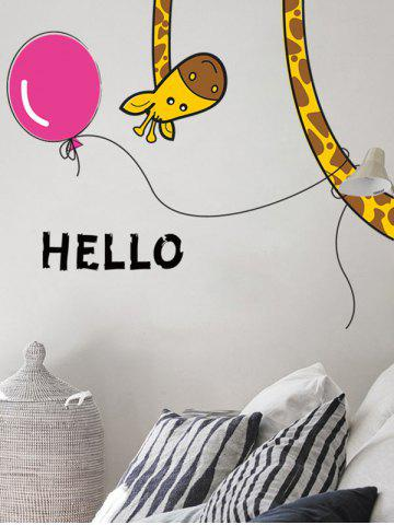 Chic Removable Cartoon Giraffe Bedroom Wall Sticker - 30*60CM COLORMIX Mobile