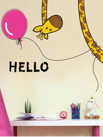 Store Removable Cartoon Giraffe Bedroom Wall Sticker - 30*60CM COLORMIX Mobile