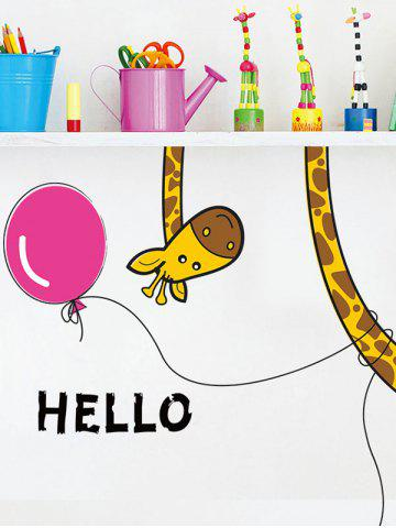 Affordable Removable Cartoon Giraffe Bedroom Wall Sticker - 30*60CM COLORMIX Mobile