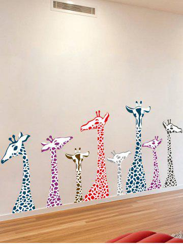Shop Giraffe Animal Vinyl Wall Stickers For Kids Room - 50*70CM COLORMIX Mobile