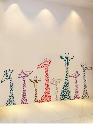 Affordable Giraffe Animal Vinyl Wall Stickers For Kids Room - 50*70CM COLORMIX Mobile