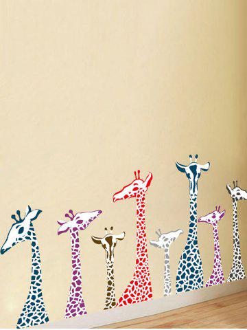 Store Giraffe Animal Vinyl Wall Stickers For Kids Room - 50*70CM COLORMIX Mobile