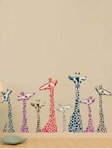 Fancy Giraffe Animal Vinyl Wall Stickers For Kids Room - 50*70CM COLORMIX Mobile