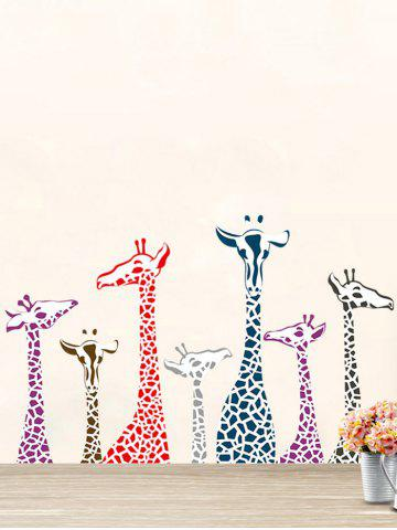 Giraffe Animal Vinyl Wall Stickers For Kids Room - Colormix - 50*70cm