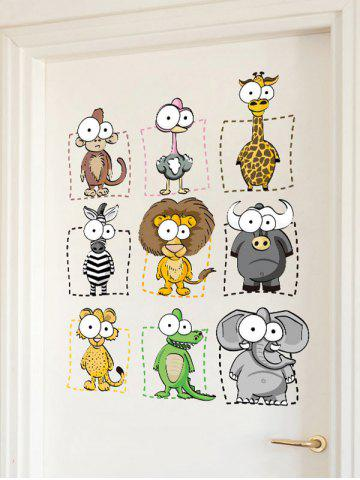 Store Animal Cartoon Wall Art Sticker For Kids - 45*60CM COLORMIX Mobile