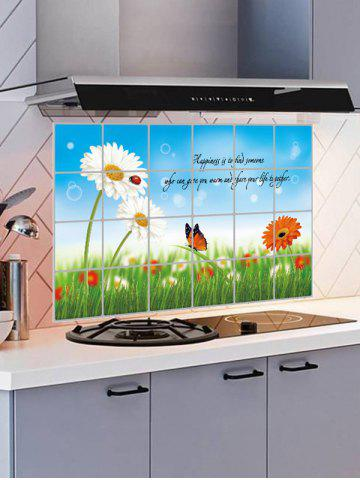 Store Flower Kitchen Removable Art Wall Sticker - 60*90CM COLORMIX Mobile