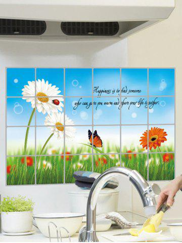 Outfit Flower Kitchen Removable Art Wall Sticker - 60*90CM COLORMIX Mobile
