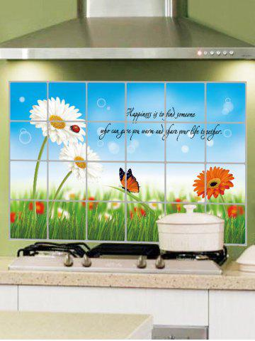 Chic Flower Kitchen Removable Art Wall Sticker - 60*90CM COLORMIX Mobile
