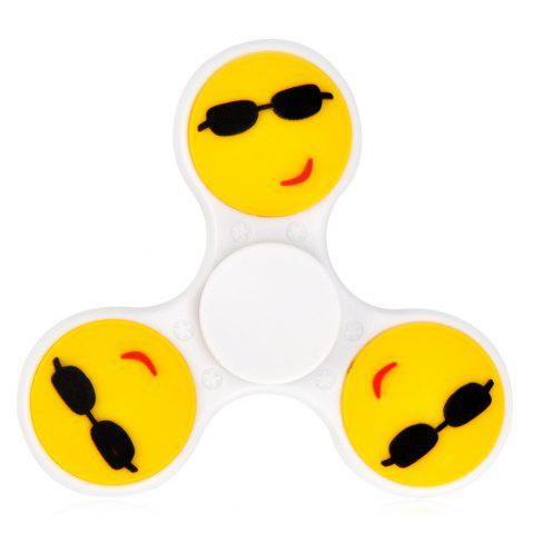Online Fiddle Toy Stress Reliver Emoticon EDC Fidget Spinner WHITE