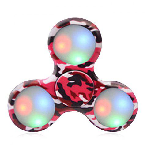 Sale Patterned Plastic Fidget Spinner with Flashing LED Lights RED